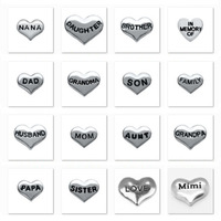 160pcs/lot Free Shipping 16 Designs Family Heart Alloy Mix Floating Charms for Floating Memory Living Locket Pendant