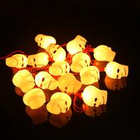 Halloween bar decoration supplies pumpkin lamp lantern pumpkin string light skeleton string light hangings