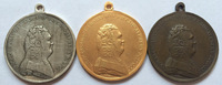 medal: wholesale Russian copper gold silver 3 MEDALS type #14