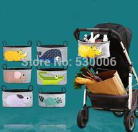 New Caratoon Animal Pattern Baby Strollers Accessories Storage Organizer Bag Baby Carriage Pram Buggy Cart Bottle Diaper Bag