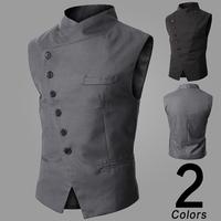 wholesale and retail Mens Fashion Vest For men slim V-neck vests 2 Color Size M,L,XL,XXL fast shipping