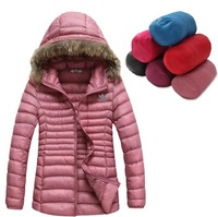 new 2014 Winter fashion Designers ad Warm Hooded lady Down coat women Down jacket Cotton-padded Jacket Outerwear Down Parkas
