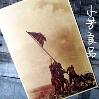 """Mixed order and combine shipping Vintage Style Retro Paper Poster Good Gifts,16"""" x 11"""" Raising the Flag on Iwo Jima"""