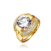 Fashion Elegant Classic Rose Gold Plated Zircon Rhinestone Crystal Ring Jewelry Size 8 Drop Shipping LKN18KRGPR355