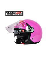 Double lens electric motorcycle helmet LS2 winter of half-face helmets