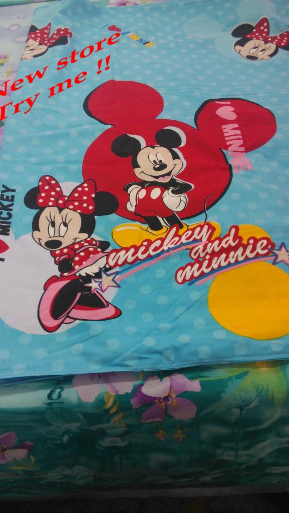 Mickey 3D rato cama de algodão conjunto lençóis completa rainha rei folha de berço capa reativa quilt fronha(China (Mainland))