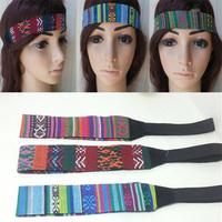 12pcs/lot  2014 fashion bohemian folk print Elastic hair band fabric headband 3cm width  Wholesale and Retail