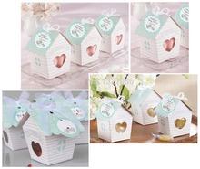 10PCS mini Love Nest Bird house baby shower candy box wedding candy boxes wedding favor gift box chocolate box BX015(China (Mainland))