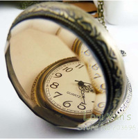 10pcs/lot Antique Pocket Watch with Chain Fashion Necklace Jewelry Necklace Watch Free Ship