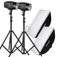 2* Godox K-180A 180WS 220V Mini Photography Studio Strobe Flash Light+Godox 60x90cm Softbox+2m Mini Studio Light Stand P0016852W