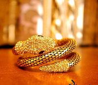 New Hot Selling Fashion punk retro crystal full of rhineston multilayer snake Bracelets&Bangle For Women Alloy jewelry  MD1162
