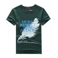 2014 summer fashion men's T shirt printing cotton short-sleeved T-shirt sleeve head