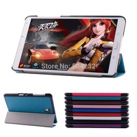 WY4 Crazy Horse Pattern Slim Folding 3-Folders Stand Leather Case For Samsung galaxy Tab S 8.4 SM-T700