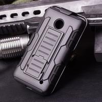 N635 Case,Future Armor Impact Skin Holster Kickstand Case Cover For Nokia Lumia 630 635 Combo ,10pcs case+Protector+Freeshipping