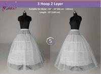 WP-018 3 Hoop 2 Layer Bridal Wedding Petticoat Underskirt for Sale
