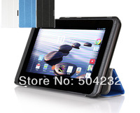 Silk Patterns Slim Folding 3-foders PU Leather  Stand Cover Case For Acer Iconia B1-720 7inch tablet