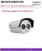 "High quality Hikvision  DS-2CE1682P-IT5  600TVL 1/3"" DIS ICR EXIR Bullet Camera security IR  Approx 50 to 80M CCTV analog Camera"