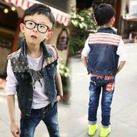Autumn wear children's wear, 2014 new tide in children boy vest leisure vest