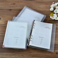 9 hoes B5 Transparent pvc folder notebook, free shipping