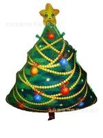 2pcs Christmas tree foil balloon ,70*60cm big christmas home decoration,winter green christmas ornament