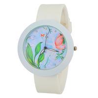 2014 new electronic Women Watch Rhinestone Watches Fashion Watch Round Analog Watch with Silicone Strap -5
