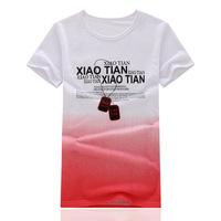2014 new fashion men's short sleeve T shirt wholesale Summer Top T shirt printing T shirt