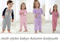 retail 0~12months mutli-styles brand babys autumn rompers long sleeve cotton cartoon baby boys and baby girls one-pieces clothes