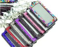 neck bling lanyard strap Shining Rhinestone Crystal Lanyard Sling Vertical Card ID Badge Holder free shipping