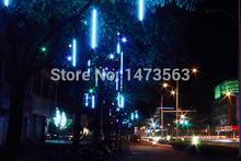 30CM/Set Meteor Light Shower Rain Tubes LED String Light Christmas Lights for Party Wedding Decoration 110-220V Blue EU DJ00048(China (Mainland))