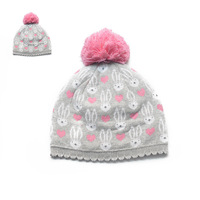 Beanie for children beanie for girl 100%cotton winter hat with polar fleece inner lining