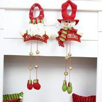 Christmas Bells snowman Santa Claus  Home Christmas decoration natal Christmas tree decorations Decorative pendants navidad