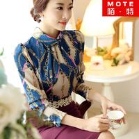 Chiffon shirt female long-sleeve 2014 autumn ladies women's elegant ol basic shirt female top