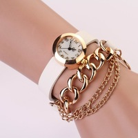 New Arrivals women vintage leather strap watches,Chain rivet bracelet women dress watch,women wristwatch free shipping PL129