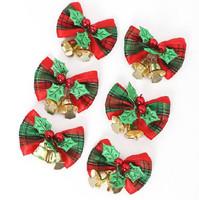 Wholesale pricing 12 pcs Christmas Bow with Bells christmas decoration natal christmas tree navidad christmas ornament