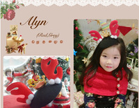 Freeshipping!New Girls/Kids/Infant/Christmas Barrette/Baby Hairclamp/Hairpins/Hair Accessories,GHF309