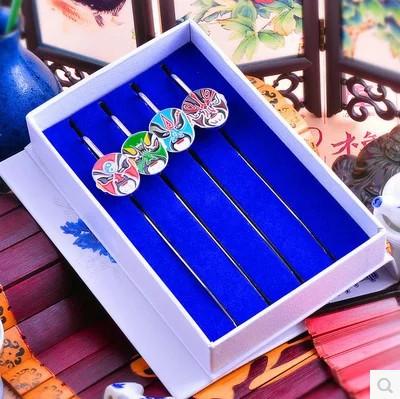 Metal bookmark Chinese wind Peking Opera bookmarks Metal classical creative bookmarks gifts customized custom(China (Mainland))