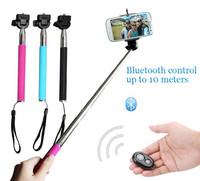 Selfie Stick Extendable Aluminium Handheld Monopod Phone Holder Wireless Bluetooth Remote Shutter Control 3 in 1 set