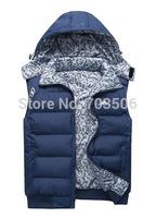 2014 new winter men's cotton vest male Korean men cultivating cotton vest hooded vest,FREE SHIPPING