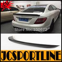 2008-2013 W204 2D V Style Carbon Fiber Rear Wings, Auto Car Boot Lip Spoiler For Mercedes-Benz (Fit W204 2D 08-13)