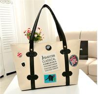 Wholesale 2014 new Korean ladies large bag of candy color portable shoulder bag fashion handbags badge a generation of fat