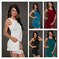 R70063 Free shipping 5 color vestido chiffon shirt dress o neck hot sale women casual dress 2015 new  summer women dress