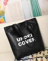 2014 autumn new Korean letters printed Harajuku style minimalist shoulder bag large capacity shoulder bag
