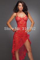 sexy lingerie red clubwear exotic women long dress sleepwear