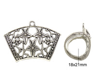 Free shipping!!!Zinc Alloy Scarf Slide Bail,Tibet Jewelry, antique silver color plated, nickel, lead & cadmium free, 45x32x21mm