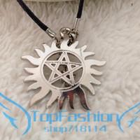 The TV series Supernatural necklace&Pendant Sun star necklace Dean Supernatural Silver Color necklace for supernaturalian