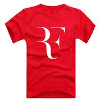2014 summer personality Roger Federer RF Tennis T Shirt cotton sport t-shirt man top tee casual man short sleeve plus size DV04
