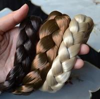 New Arrival freeshipping wholesale fashion bohemian wigs braid thick wide headband popular fashion hair accessories 2.5cm