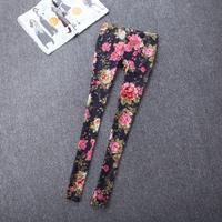 Free shipping fashion plus size elastic pencil skinny legging pants black casual pants