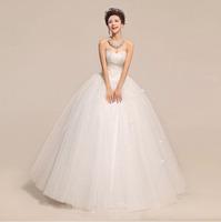 2014 New Arrival Sexy Cute Off The Shoulder Floor Length Elegant Luxurious Bridal Wedding Dresses HS519