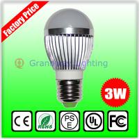 LED Bubble Ball Bulb High power led bulbs E27 3W Silver AC85-265V Cold white/warm white Free shipping